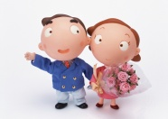 Cartoon couples picture material download