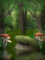Cartoon fantasy forest picture download