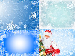 Christmas backgrounds-blue-HD pictures