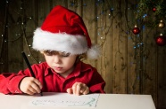 Christmas children draw pictures