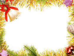 Christmas decoration border picture material