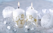 Christmas ornament candles HD pictures