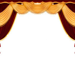 Continental curtain picture material