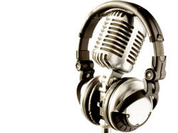 Cool microphone picture material-2