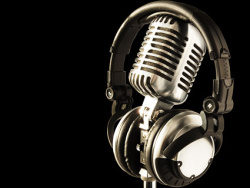 Cool microphone picture material-3