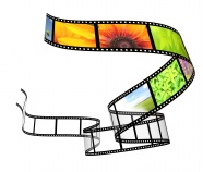Creative movie tape pictures