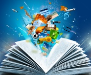Creative open book picture download