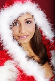 Cute Christmas beauty photo picture