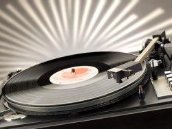 DJ vinyl disc machines picture material