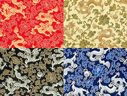 Dragon play bead Chinese fabric backgrounds HD picture (4 colors)