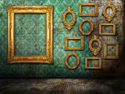 European-style photo frames on the wall picture material-3