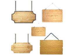 Exquisite wooden hangtag HD pictures