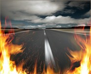 Flame road picture download