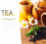 Fresh tea leaf design pictures