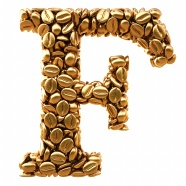 Golden f letters creative pictures