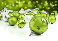 Green ball Christmas decoration pictures download