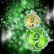 Green Christmas ball background pictures