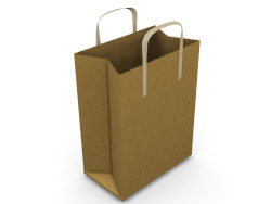 Hand bag-Brown empty paper bag HD picture