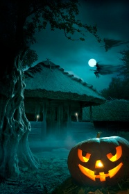 Haunted House Halloween Jack-o-lanterns pictures