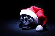 HD Christmas skull picture download