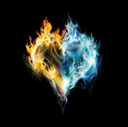 HD flame heart-shaped picture download