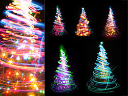 HD glare Christmas tree pictures