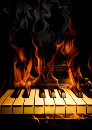 HD piano flame picture download