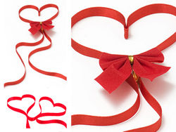 HD picture red ribbons of love (2P)