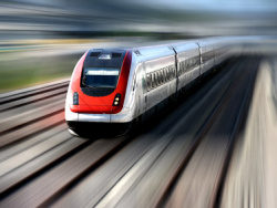 High speed train picture material