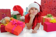 Little girl Christmas presents pictures download
