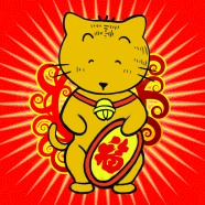Lucky cat cartoon pictures