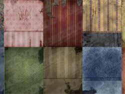 Old European-style wallpaper wall picture material-1