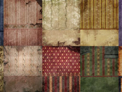 Old European-style wallpaper wall picture material-2