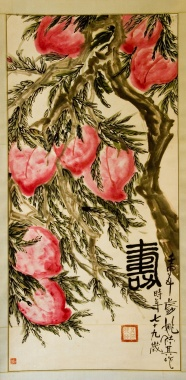 Painting in ' zhonghuashoutao ' peach pictures
