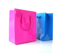 Paper bag hand bag-red and blue high definition pictures