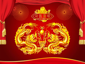 PSD Chinese Dragon pattern material