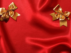 Red cloth with gold bows HD pictures 2