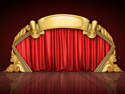 Red Curtain and stage HD picture material