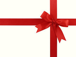 Red Ribbon bow picture material-2