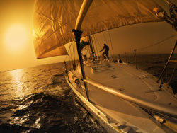 Sailing picture material
