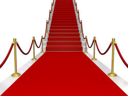 Shop red carpet stair-quality picture material