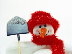Shovel the cute snowman HD pictures