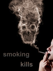 Smoking smoking skull shape picture