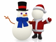 Snowman and Santa Claus pictures