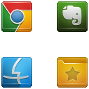 Square Buttons Icon Set 4-5