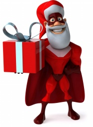 Superman gift box Christmas HD pictures
