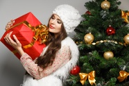 Sweet beauty and Christmas present pictures
