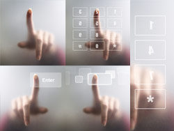 Touch screen with finger–HD pictures