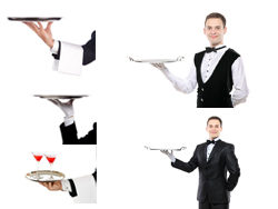 {Tray waiter, sign} HD pictures