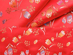 Tulip Chinese fabric backgrounds HD Photo (2P)